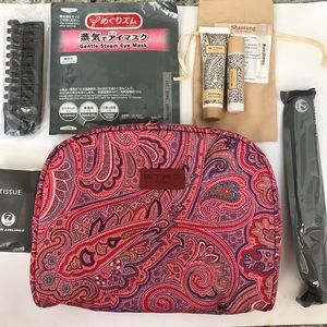 New ETRO pink paisley bag First Class JAL